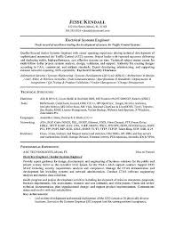 engineering resume examples electrical engineer resume example