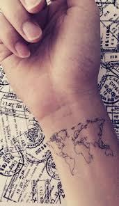 Wrist Map Tattoo Idea Tattoo 문신 잉크 A 헤나