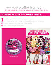 printable for an ever after high birthday party invitation printable for an ever after high birthday party invitation currently this is what