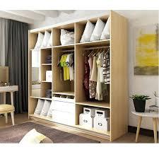 modern wood panel assembly custom made hanging sliding door wardrobe closet with dressing mirror clos