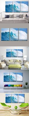 3 Panels Painted Ocean Waves Oil Painting On Canvas Mural Modern Wall  Painting Wall Picture Seascape