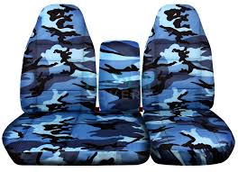 ford f 150 60 40 high back blue camo seat covers