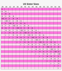 229 X Bra Sister Size Chart Us Free Transparent Png