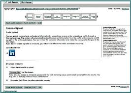 Screenshot of the Resume Upload section of the Merck careers application  form