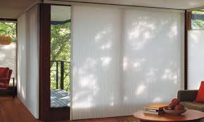 glass door window treatments duette