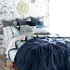 blissliving home harper bed linens navy the decorating companynavy blue pintuck duvet cover navy blue