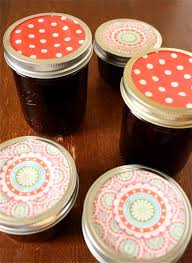 Decorating Jelly Jars A Big Mouthful A Super Neat Cute Trick for Decorating Jam Jars 18