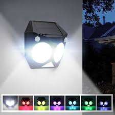 Dual Bright Motion Light Ousam Led Solar Light Outdoor Motion Sensor Rgb Lamp Dual
