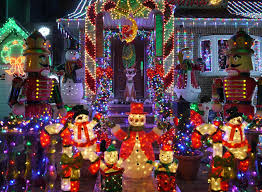 unique christmas lighting. christmas outdoor decorations snowman and nutcracker lights up house in brooklyn new york unique lighting n