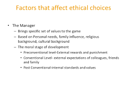 ethics  51 factors that affect ethical