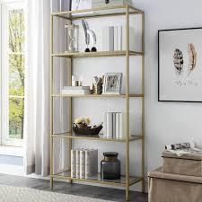 Glass shelves bookcase Drawers Wayfair Mercury Row Dahill Glass Shelves Standard Bookcase Reviews Wayfair