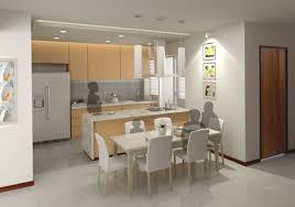 Open Kitchen Concept Kitchen Kitchen Dining Designs With White Unique Kitchen Islands