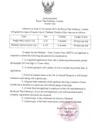 Thailand S Multiple Entry Tourist Visa Requirements Tieland To