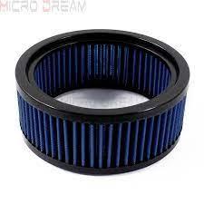 Mavi motosiklet yedek hava filtresi yuvarlak yüksek akışlı pamuk gazlı bez hava  temizleyici için Harley (E 3226)|Air Filters & Systems