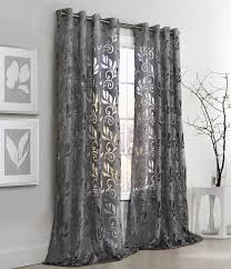 ... Amazing Curtains With Grommets Grommet Curtains Walmart Floral Burnout  Grommet Curtain Panel Couture: ...