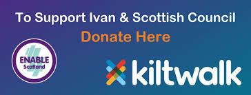 Ivan Cohen - Virtual Kiltwalk Ambassador - Scottish Council   ENABLE  Scotland