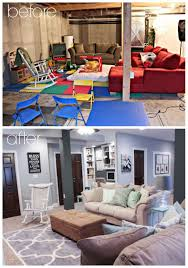 finished basement ideas before and after. Delighful After Finished Basement Ideas  Before U0026 After In And E