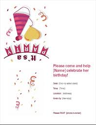 Birthday Party Invitation Birthday Party Invitation
