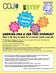 the synagogue summer jobs for teens accepts youth corps