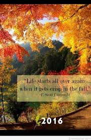 fall picture with related autumn quote