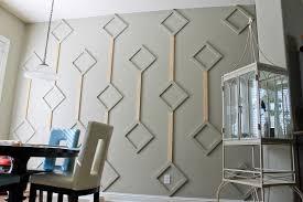DIY Diamond Wall Architectural Feature Progress 2