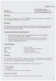 Sap Fico Sample Resume Sap Fico Sample Resume 3 Years Experience Popular Sap Fico Resume 3