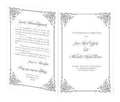 15 Wedding Programs Templates Invoice Template
