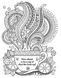 Swear Word Adult Coloring Book Coloring Pages For Kids