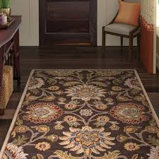 oval 6 x 9 area rugs topaz hand tufted wool dark brown area rug