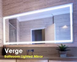 bathroom mirror lighting. Verge Bathroom Lighted Mirror Lighting