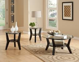 glass living room table decorate round glass coffee table with white shaded lamps and vases