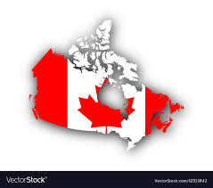 Map Of Flag Vector Canada Image And Free Royalty