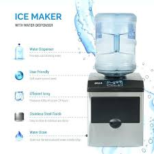 freestanding water dispenser w built in ice maker machine up to countertop and igloo multiple colors