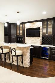 basement bar stone. Basement Bar With Wood Flooring And Stone Wall Contemporary-home-bar Basement Bar Stone