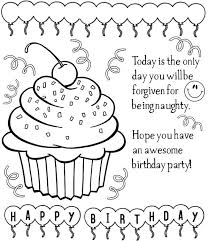 Coloring Pages For Birthday Birthday Party Coloring Pages Eating