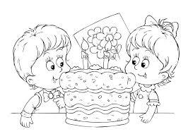Kleurennu Verjaardagstaart Met 2 Kaarsjes Kleurplaten Pertaining