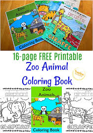 Coloring pages for children of all ages with drawings to print and color. Free Printable Zoo Animal Coloring Book For Kids