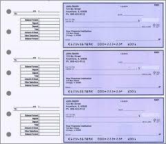 desk set checks size 3 to a page
