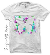 How To Design A Shirt With Paint Scrapendipity Designs Butterfly Paint Iron On Transfer Pattern