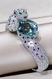 a bracelet on display at the cartier haute joaillerie exhibition courtesy of cartier