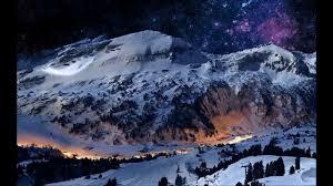 paysages d hiver la nuit