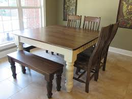Farm Table With Bench And Chairs Awesome Terrific Farmhouse Diy