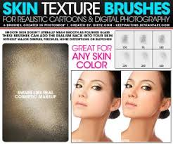 6 brushes skin texture photo brushes