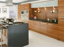 Modern Kitchen Design Trends | Ingeflinte.com Kitchen : Brown Cabinetry  With Panel Appliances Also Grey Island .