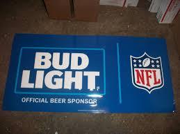 Bud Light Living Room Bud Light Nfl Football 14 75 X 29 5 Metal Tin Beer Bar Sign
