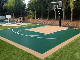 backyard ideas basketball court. outdoor bounceback backyard basketball court ideas