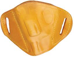 bulldog mltll belt slide large automatic hand holster left hand leather tan