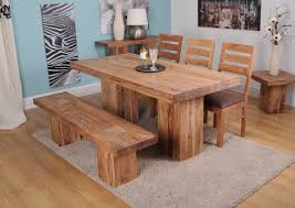 chunky dining table and chairs what dining table to choose tips ideas and things to think about intended for solid wood