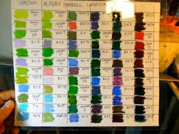 Unison Pastel Color Chart Dusty Fingers Keeping Track