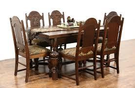 furniture oak dining chairs beautiful sold english tudor 1920 antique oak dining set table 6